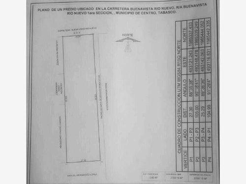 terreno en venta rancheria buenavista rio nuevo 1era secc
