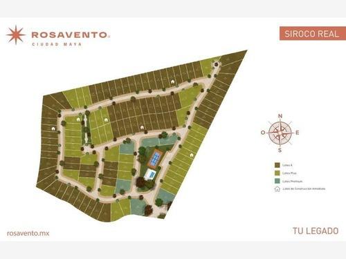 terreno en venta rosavento (siroco real) ciudad maya,  dzildzilché