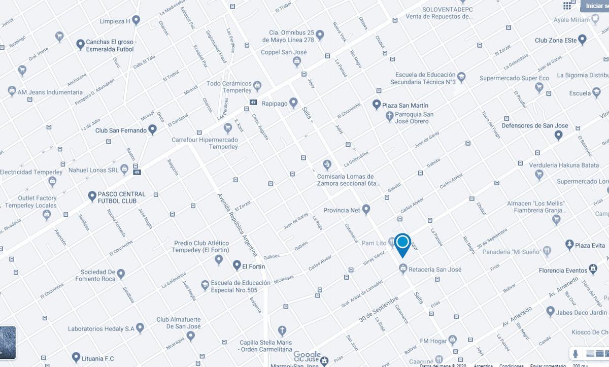 terreno en venta, salta 850, san josé, buenos aires, 375 m²