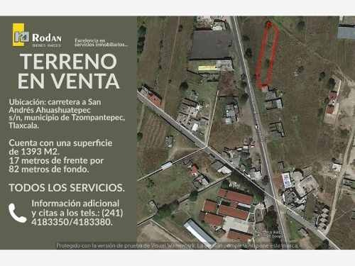 terreno en venta san andres ahuashuatepec