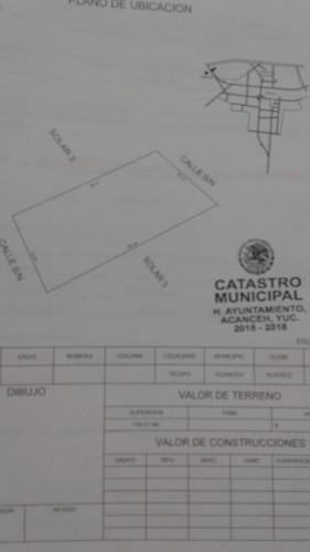 terreno en venta sobre carretera merida-cancun en ticopo.