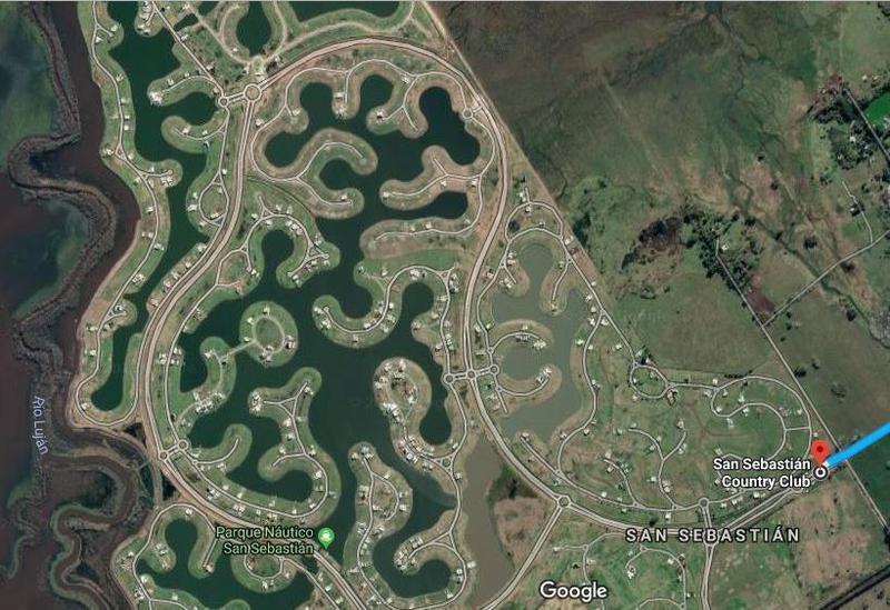 terreno en venta sobre laguna en barrio privado san sebastian, escobar