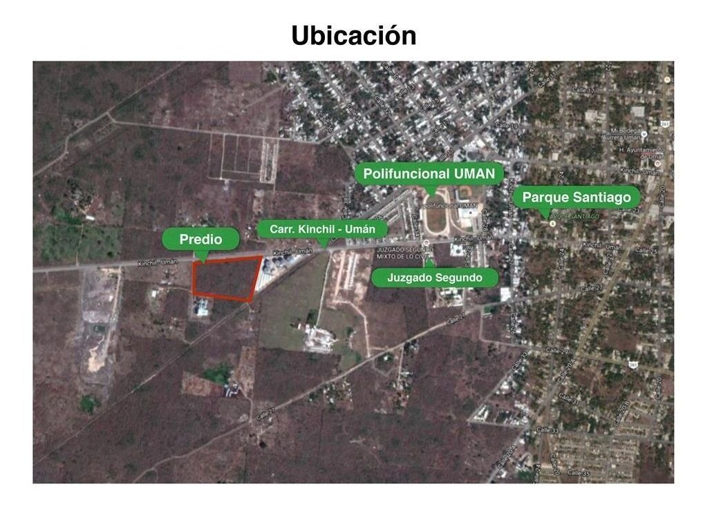 terreno en venta ubicado en umán, yucatán.