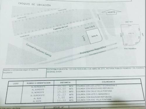 terreno en venta villa fontana esquina con blvd republica