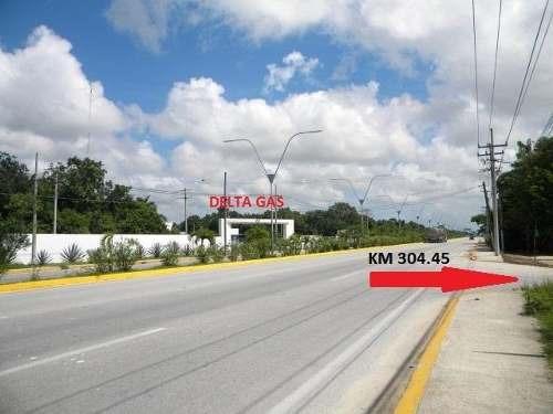 terreno en venta y renta av. lópez portillo km 304.45. 5063 m2. cancún