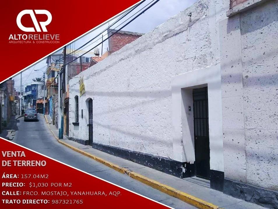 terreno en venta yanahuara, precio en dólares por metro2