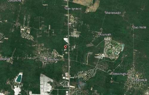 terreno en xcanatun-komchen de 6393.23 m2