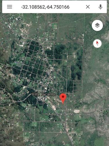 terreno en yacanto 300m2 a 2 cuadra del centro