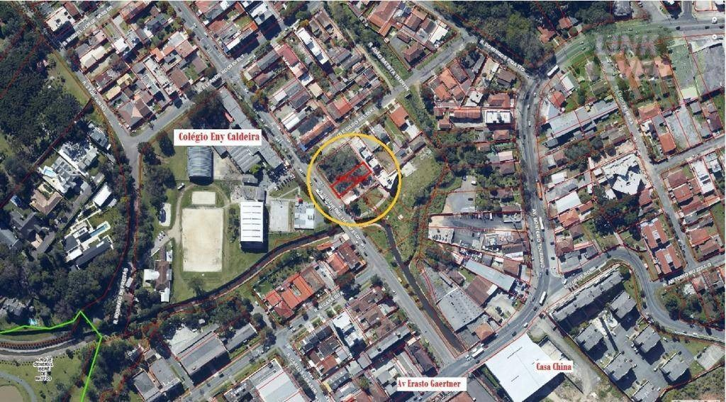terreno enorme 456,00 m² para locação no bacacheri! - te0047