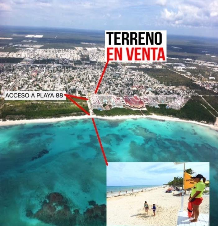 terreno  entre 5ta y 10a avenida,  playa 88 blue flag y punta esmeralda playa del carmen c2651