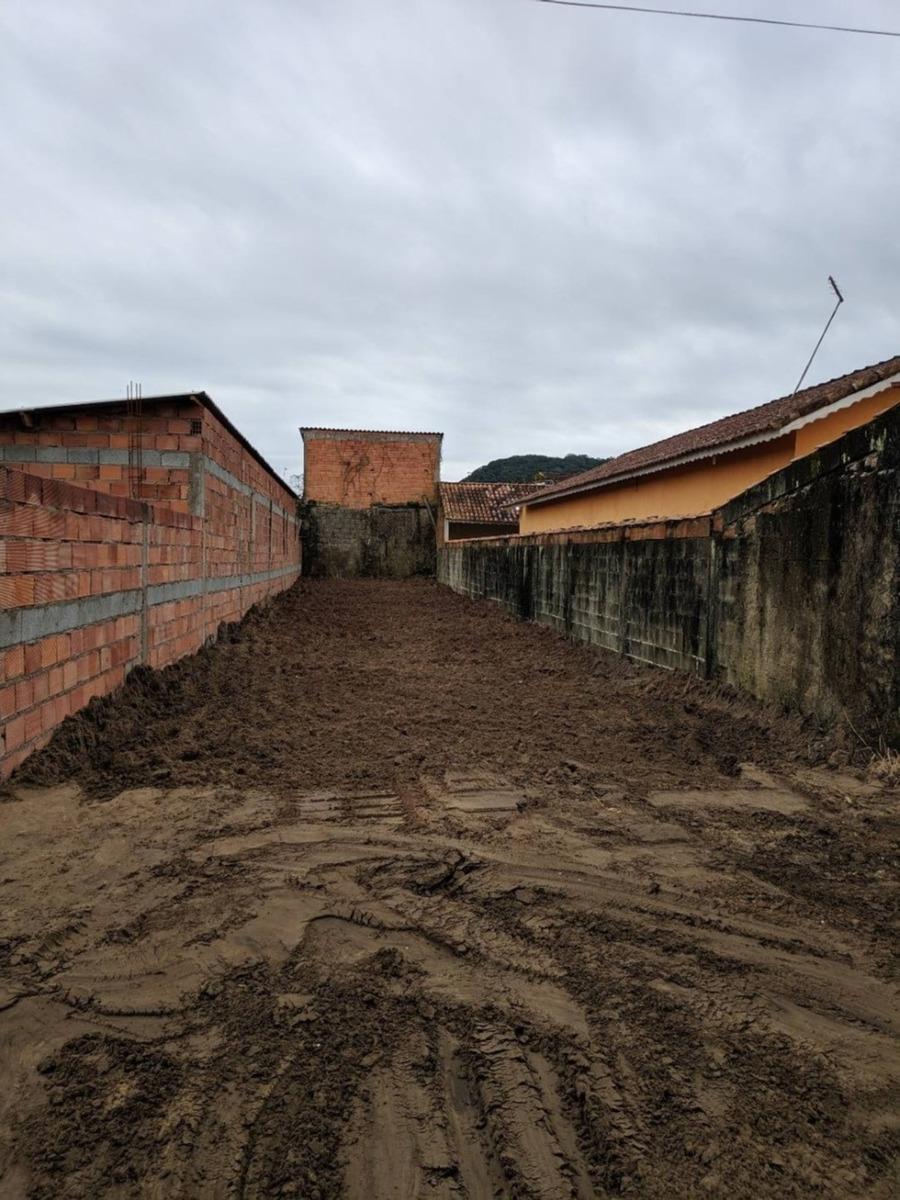 terreno escriturado e aterrado em mongaguá
