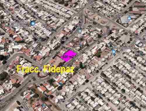 terreno fracc. filepaz  600 m2 la paz bcs