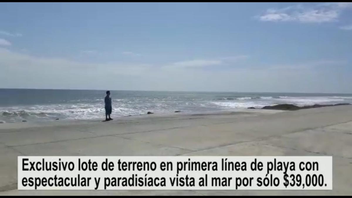 terreno frente al mar en manta en primera linea con vistas