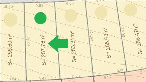terreno habitacional de 257.15 m2 en la cumbre en cumbres del lago
