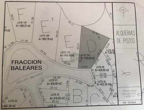terreno habitacional en venta en alquerías de pozos, san luis potosí, san luis potosí