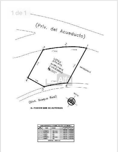 terreno habitacional en venta en bosque real, huixquilucan, méxico