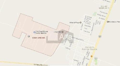 terreno habitacional en venta  en puerto morelos, en la zona urbana , 28 usd m2.