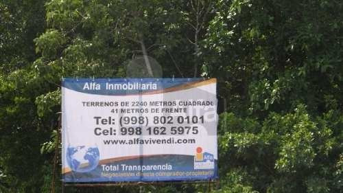 terreno habitacional en venta en supermanzana 57, benito juárez, quintana roo