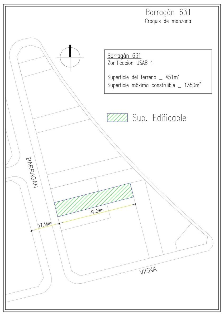 terreno ideal para complejo de ph - zonificacion usab 1