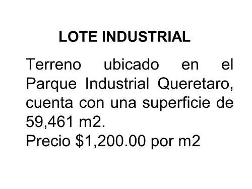 terreno industrial en venta parque industrial queretaro