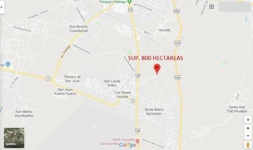terreno industrial espuela/carr. , lib.los reyes acozac 800h