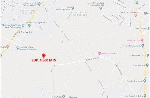 terreno industrial paseo bicentenario,zumpango sup 4,500 mts