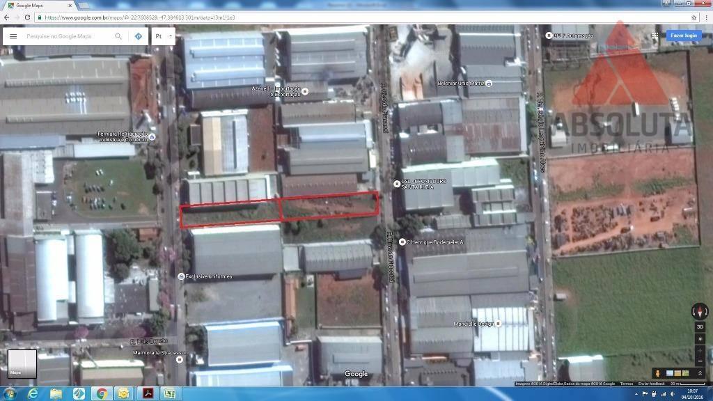 terreno industrial à venda, distrito industrial i, santa bárbara d'oeste - te0165. - te0165