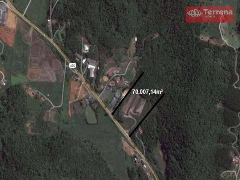 terreno industrial/comercial à margem da br 470, km 42/ gaspar-sc - te0012