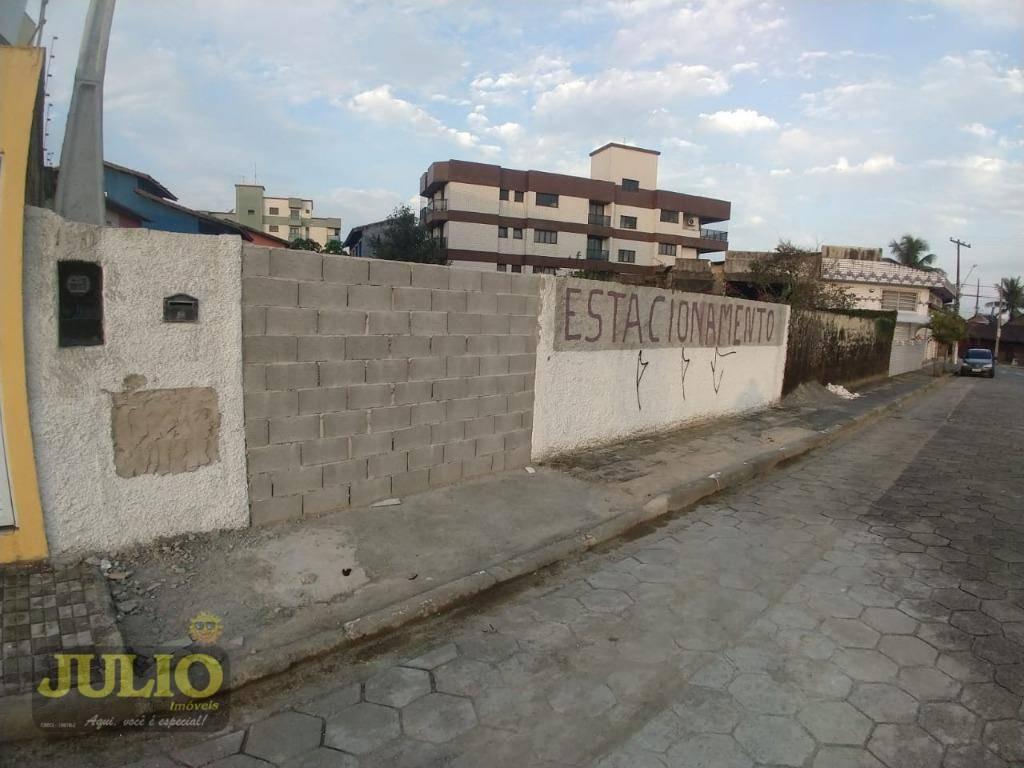 terreno lado praia, 690 m² por r$ 360.000 - balneário itaguaí - mongaguá/sp - te0273