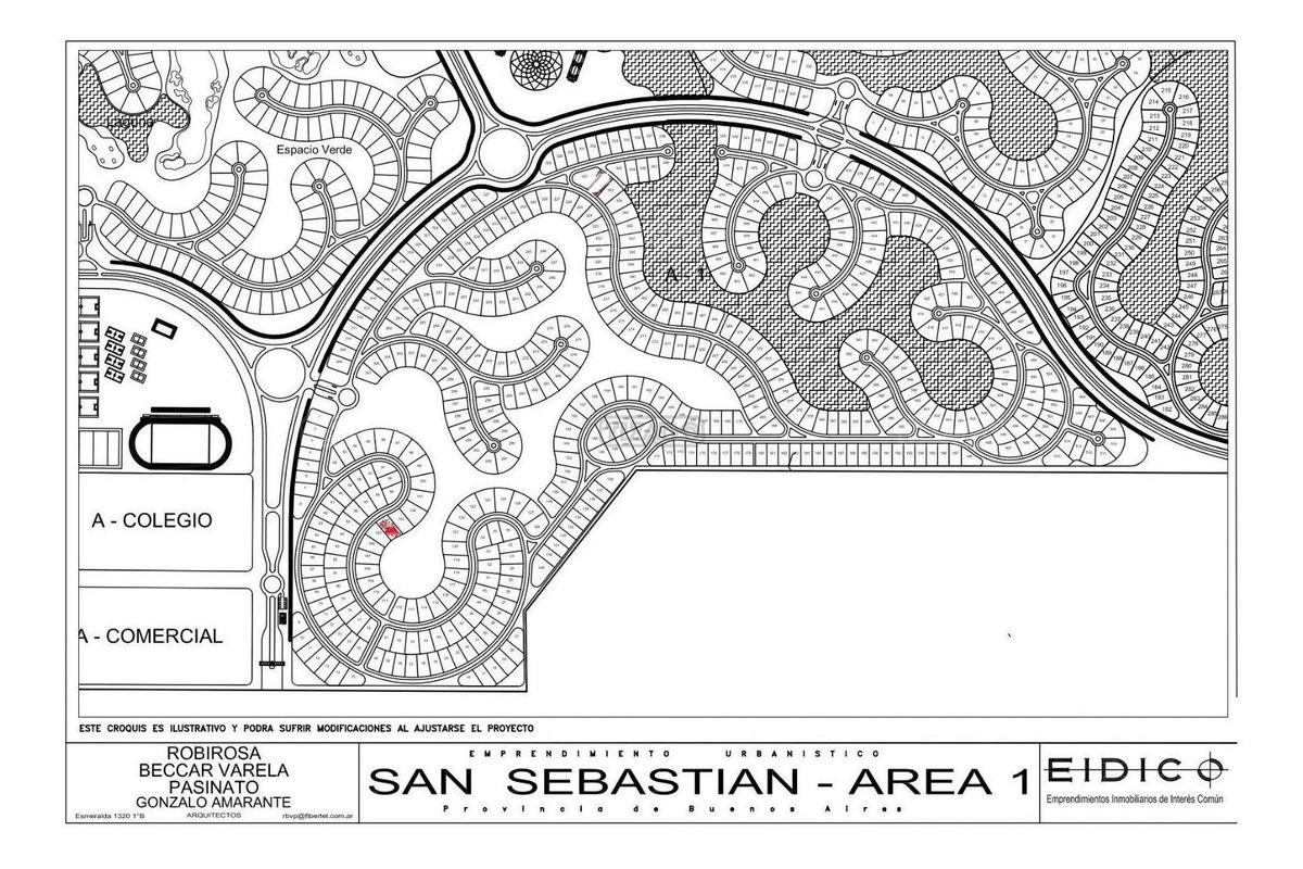 terreno lote (104) en venta ubicado en san sebastian - area 1, escobar y alrededores