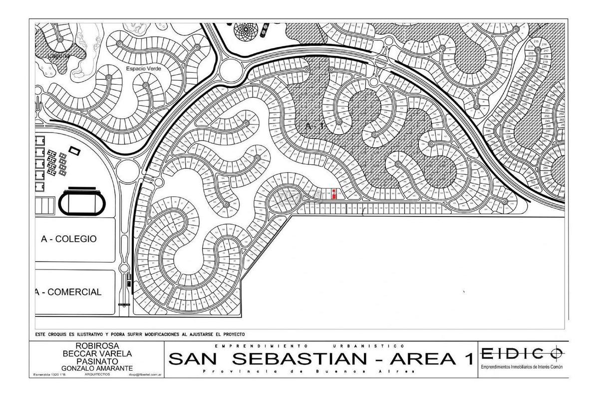 terreno lote (169) en venta ubicado en san sebastian - area 1, escobar y alrededores