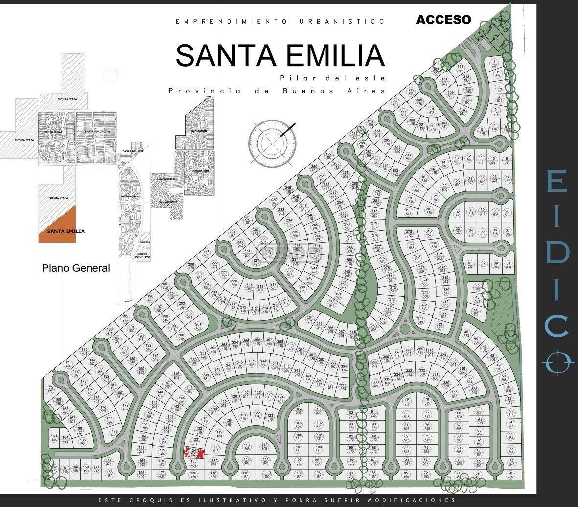 terreno lote  en venta 134  ubicado en santa emilia, pilar del este