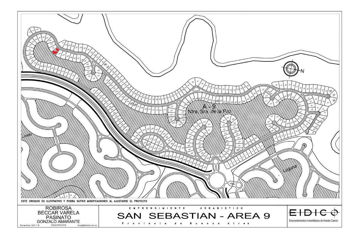 terreno lote  en venta 141 ubicado en san sebastian - area 9, escobar y alrededores