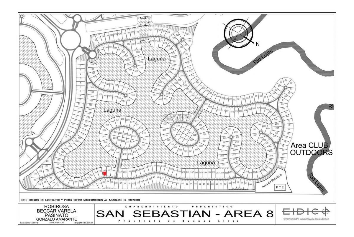 terreno lote  en venta 196 ubicado en san sebastian - area 8, escobar y alrededores