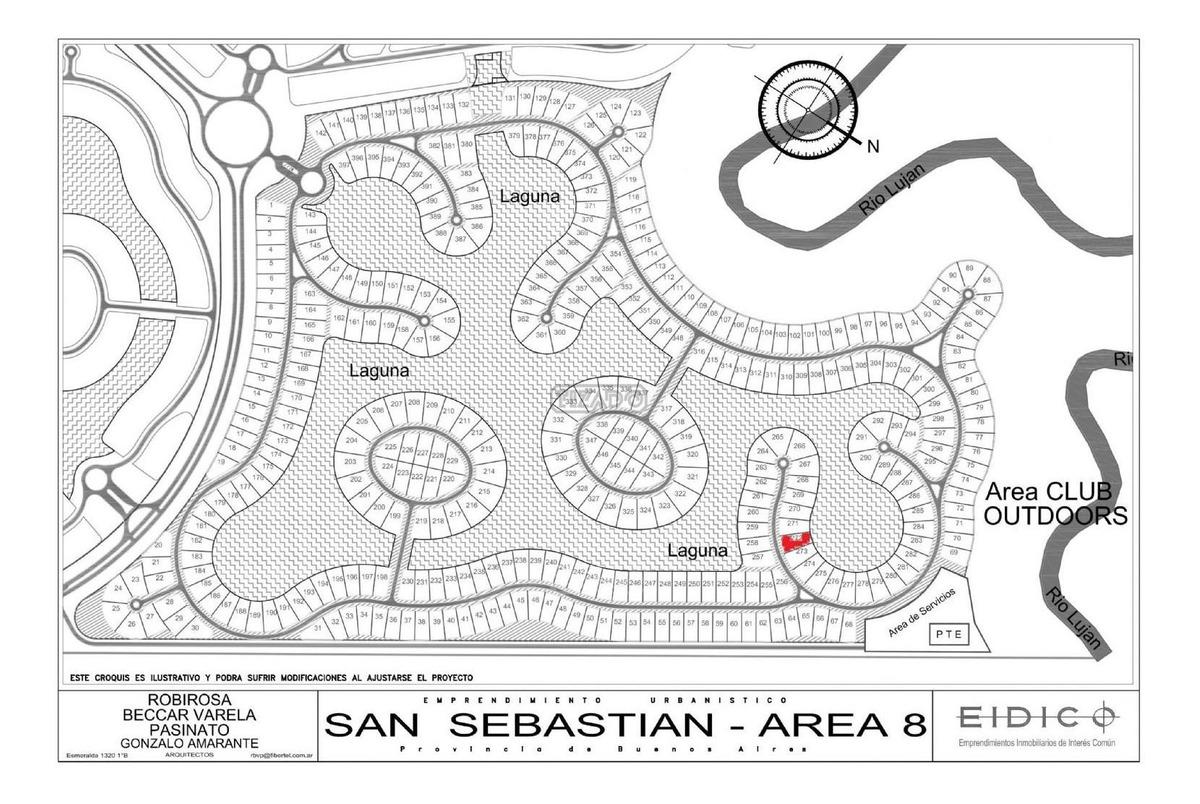 terreno lote  en venta 272  ubicado en san sebastian - area 8, escobar y alrededores