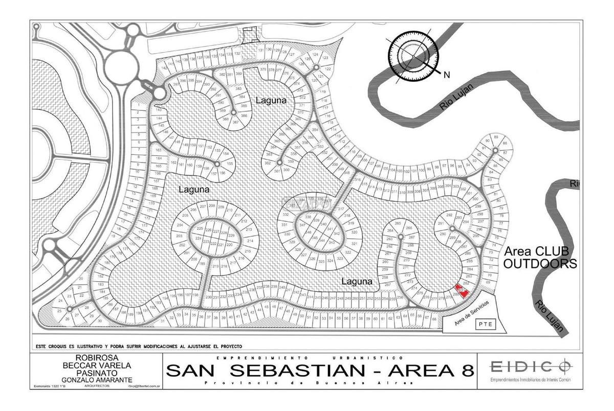 terreno lote  en venta 281 ubicado en san sebastian - area 8, escobar y alrededores