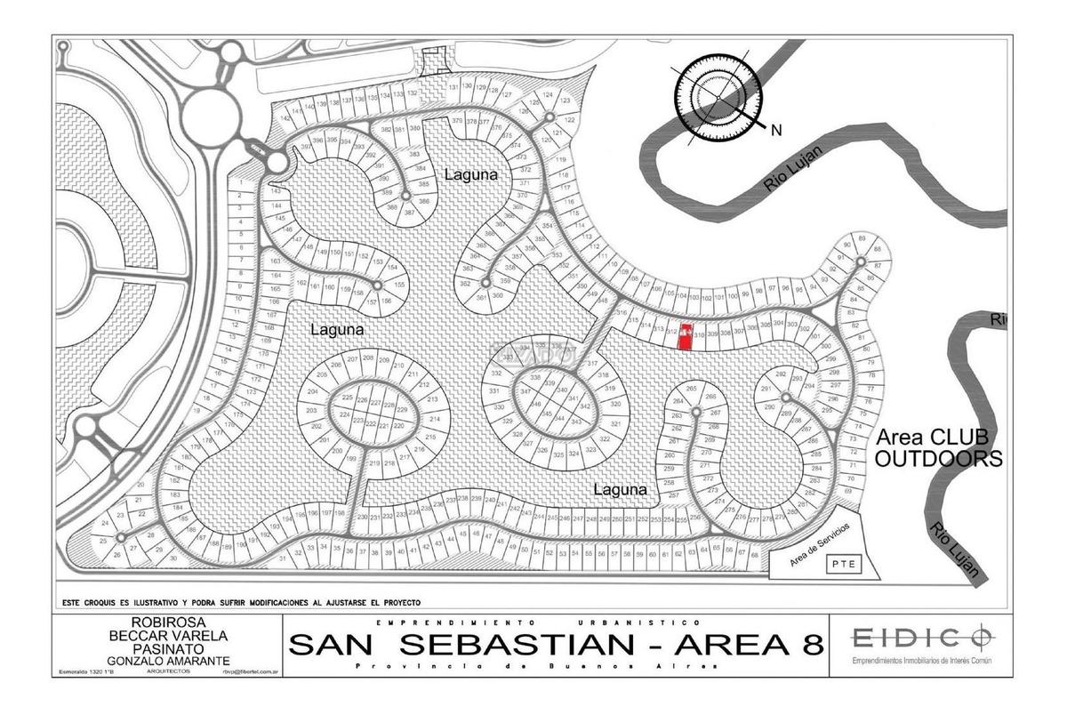 terreno lote  en venta 311  ubicado en san sebastian - area 8, escobar y alrededores