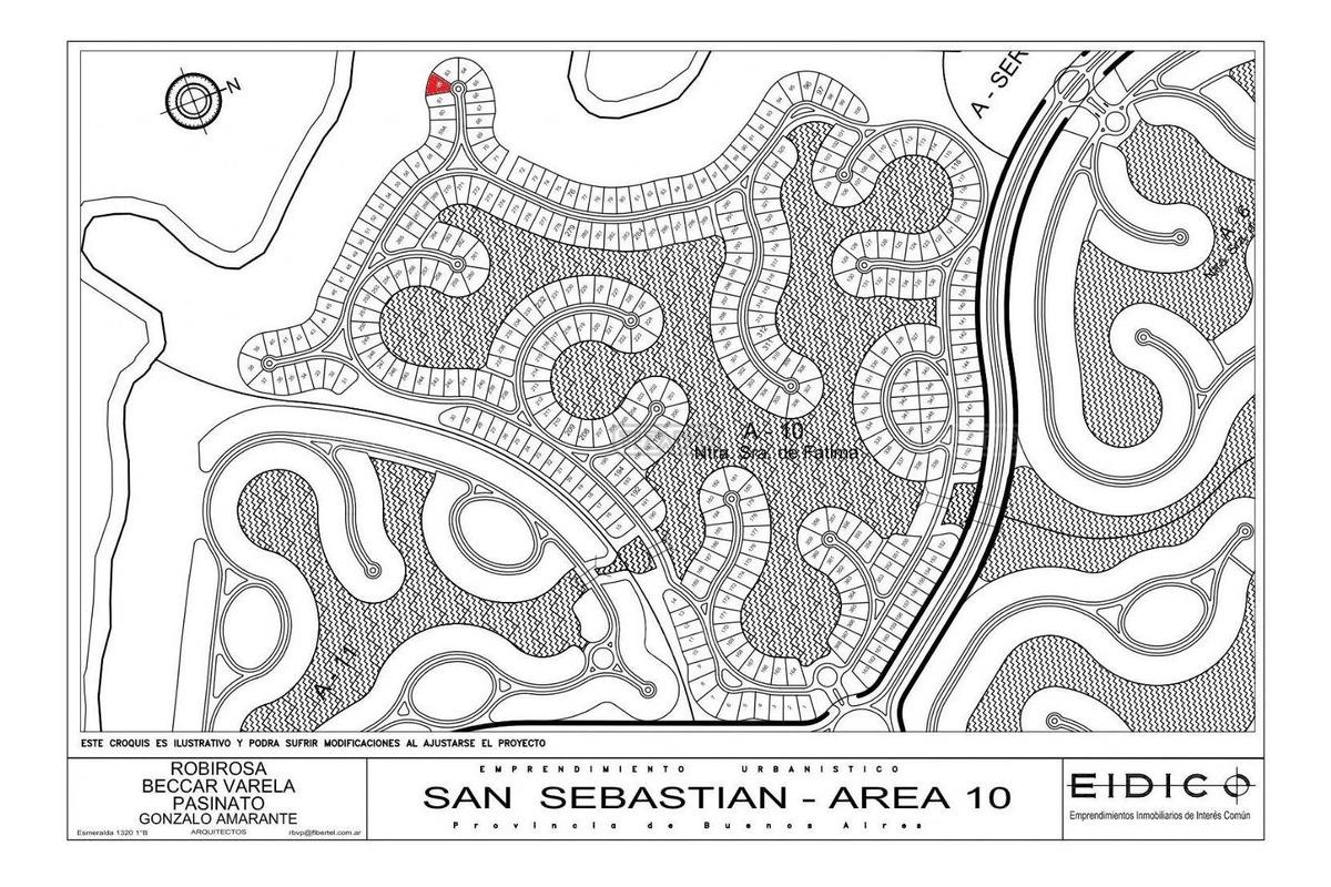 terreno lote  en venta 62 ubicado en san sebastian - area 10, escobar y alrededores