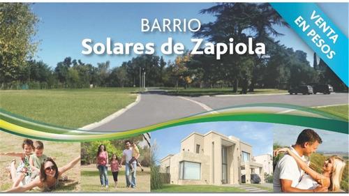 terreno lote en venta barrio cerrado solares de zapiola