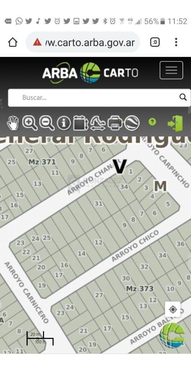 terreno lote  en venta ubicado en general rodríguez, zona oeste