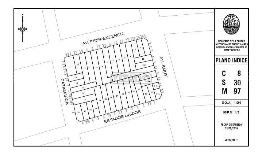 terreno lote  en venta ubicado en san cristóbal, capital federal