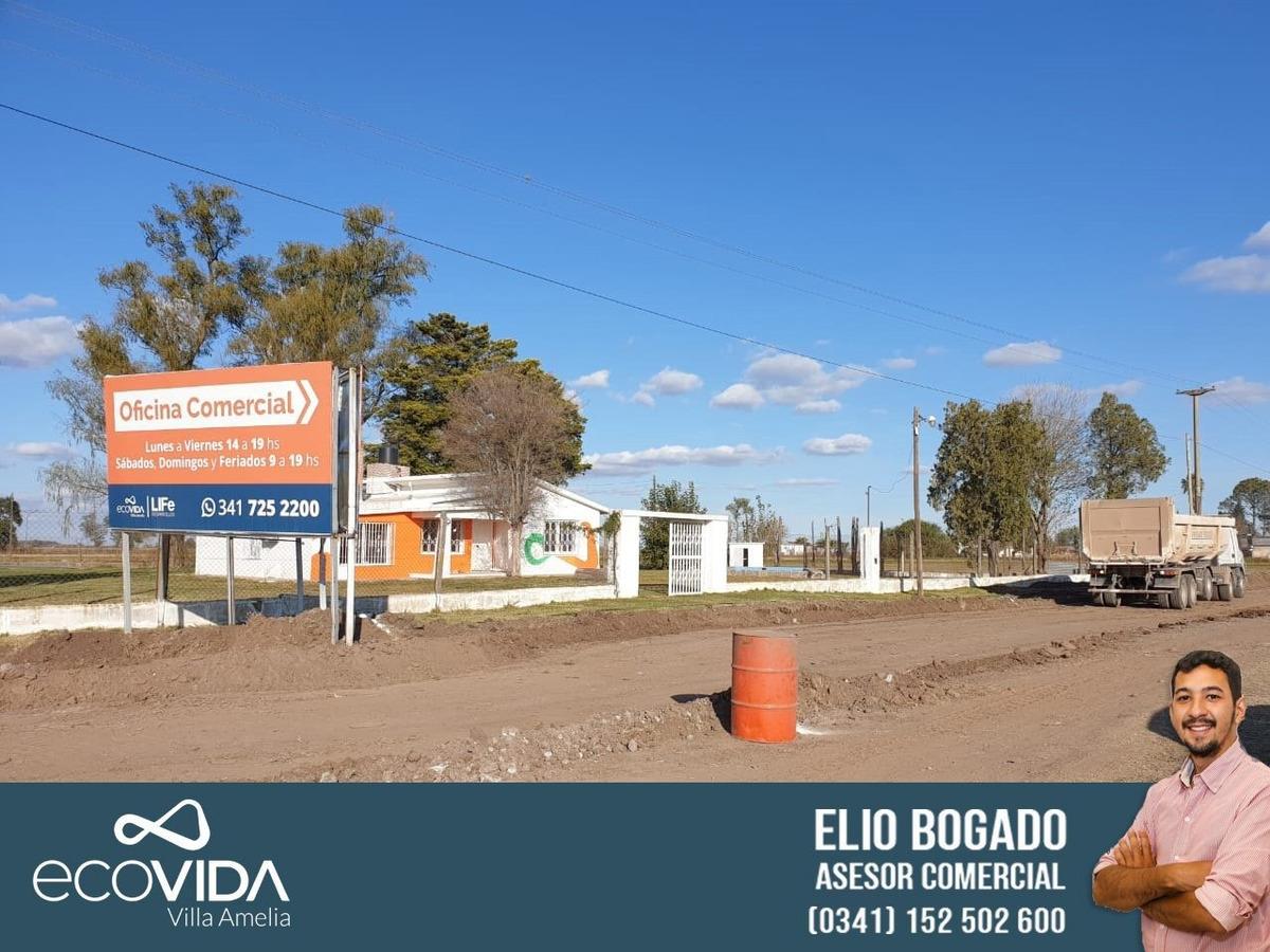 terreno lote en villa amelia - ecovida - financiacion en pesos - pronta entrega