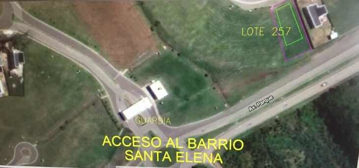 terreno  n* 257 barrio santa elena , pilar del este
