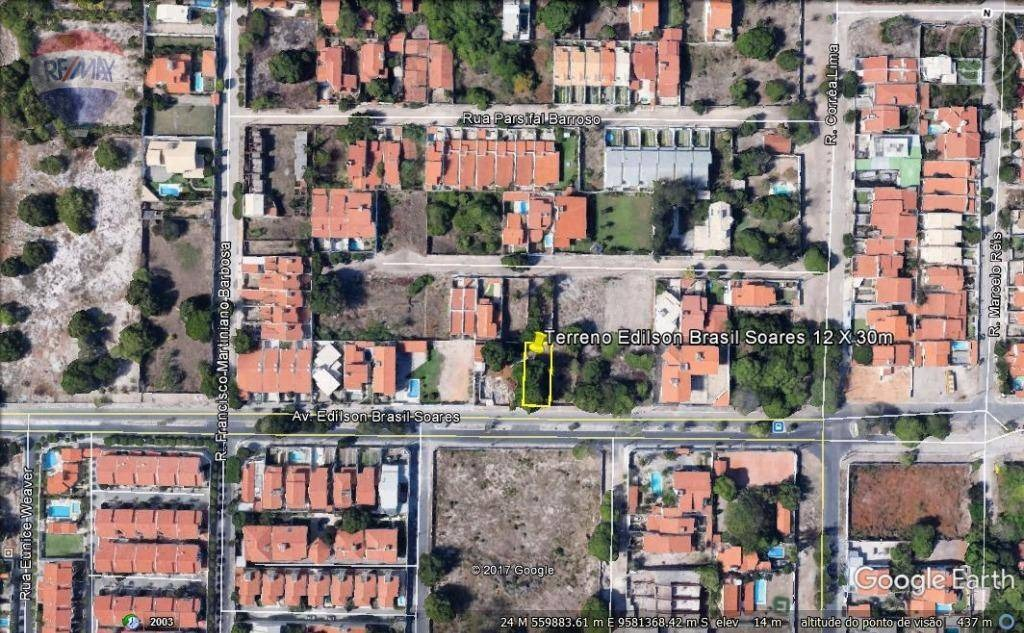 terreno na edilson brasil soares no bairro edson queiroz - te0019