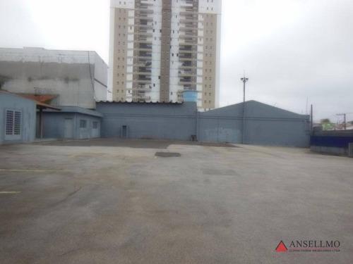 terreno para alugar, 1200 m² por r$ 15.000,00/mês - centro - são bernardo do campo/sp - te0058
