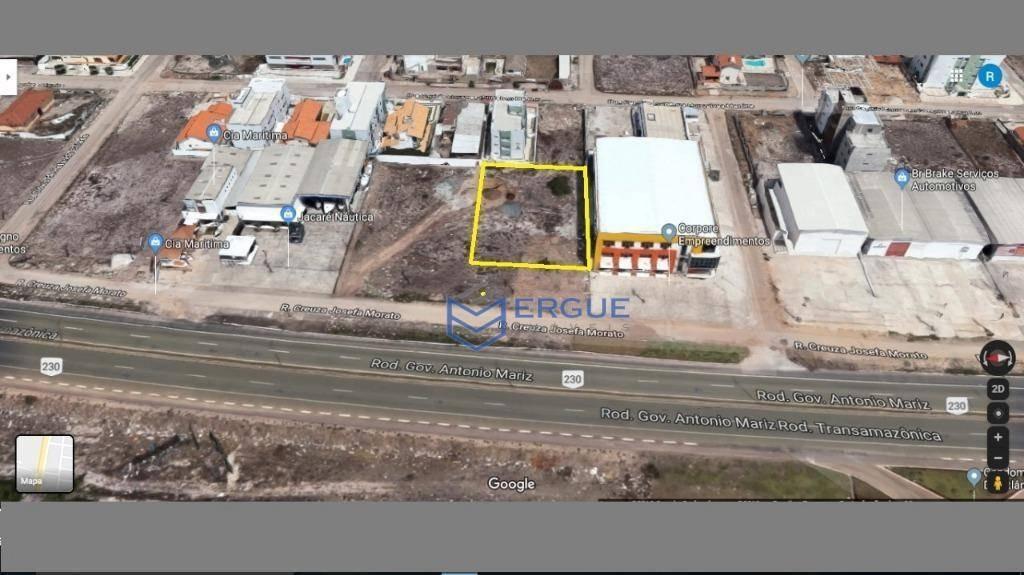 terreno para alugar, 1297 m² por r$ 4.000,00/mês - intermares - cabedelo/pb - te0114