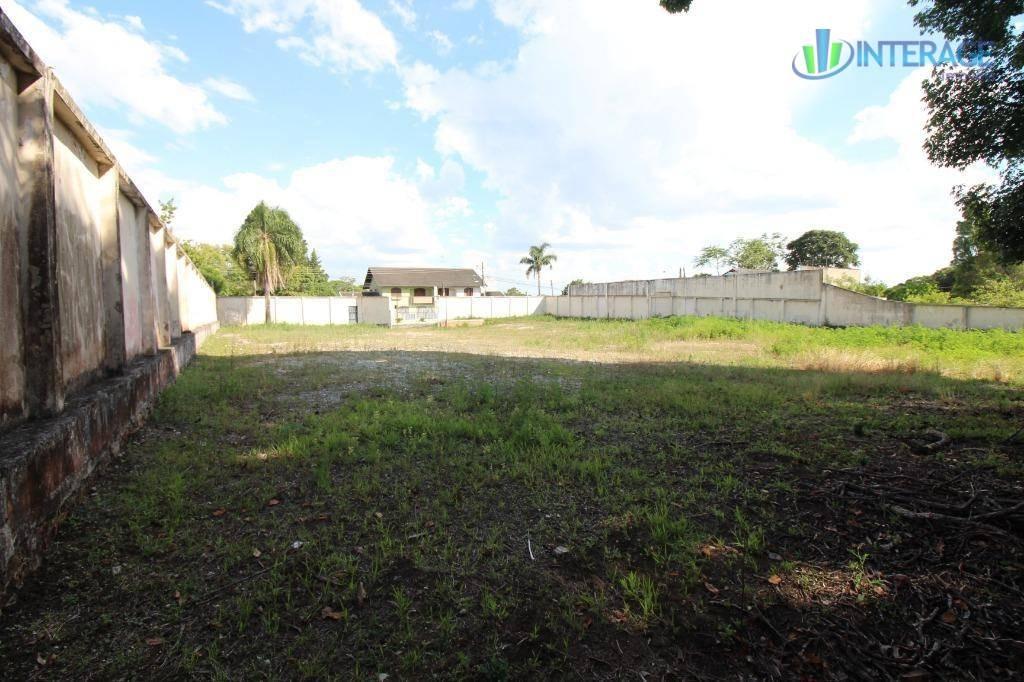 terreno para alugar, 2001 m² por r$ 3.000/mês - santa felicidade - curitiba/pr - te0142