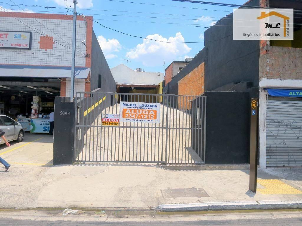 terreno para alugar, 262 m² por r$ 3.000,00/mês - vila prudente - são paulo/sp - te0140