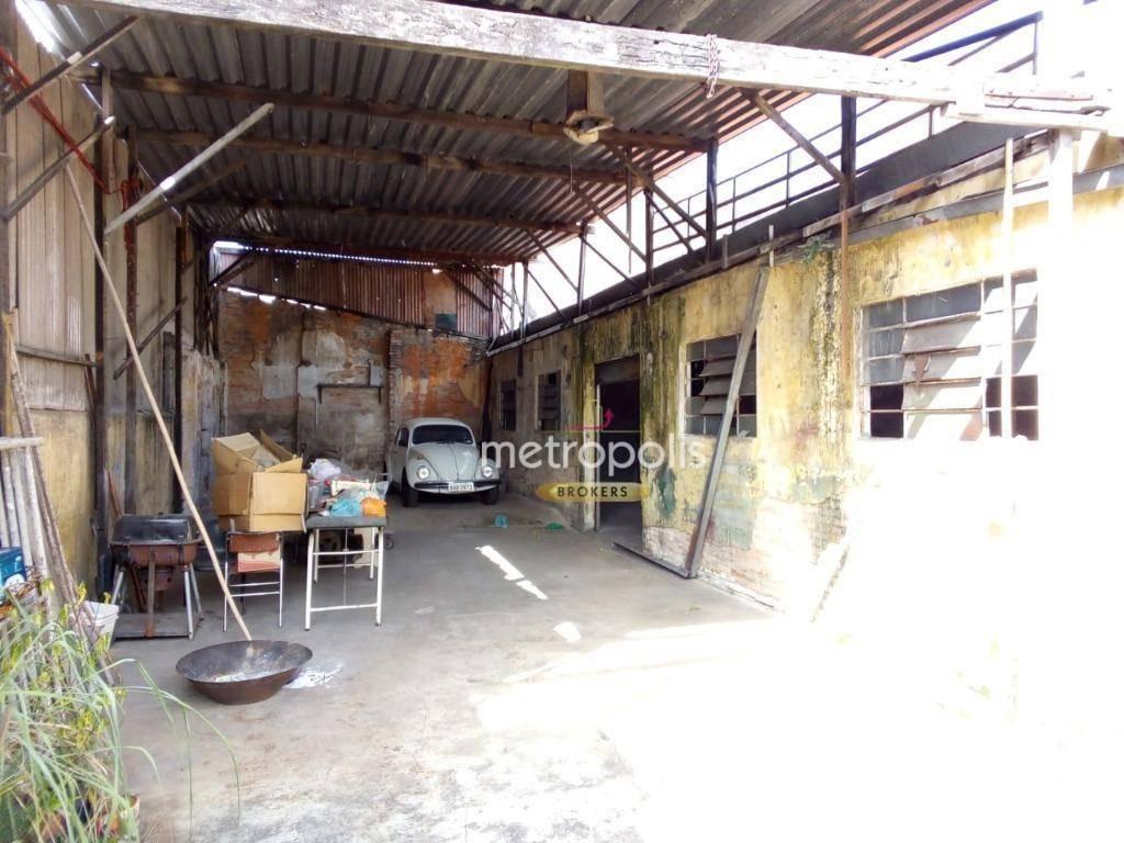terreno para alugar, 346 m² por r$ 3.800,00/mês - santa paula - são caetano do sul/sp - te0193