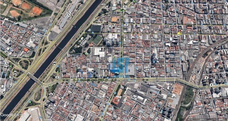 terreno para alugar, 348 m² por r$ 9.000,00/mês - bom retiro - são paulo/sp - te0591